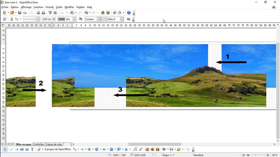 Imprimer un fond de d cor pour r seau ho - Rogner une image sur open office ...