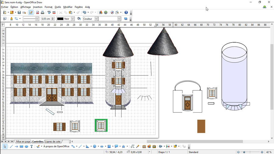 Faire un fond de d cor ho dessiner avec open office - Faire un diaporama avec open office ...