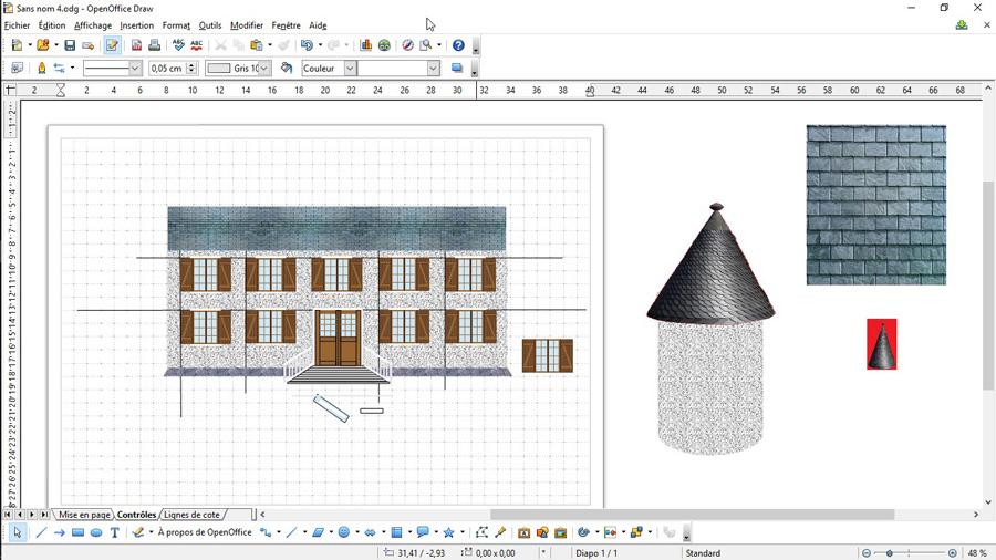 Faire un fond de d cor ho dessiner avec open office - Rogner une image sur open office ...